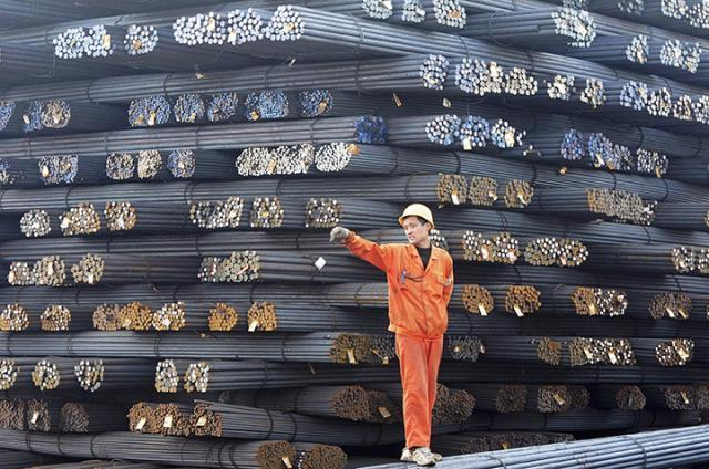 Shanghai steel rebar rises on Chinese infrastructure push